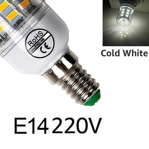 E27/E14 LED Corn Light 220V Smart IC Lamps Warm White Cold White Corn Bulb