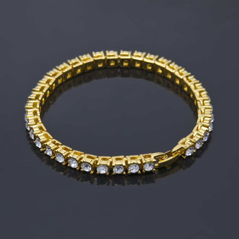 5mm gold-plated diamond tennis chain