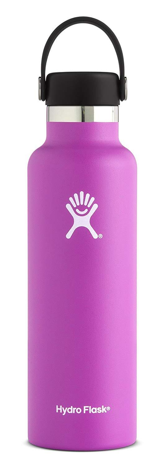 Double Wall Vacuum Insulated Stainless Steel Leak Proof Sports Water Bottle, Wide Mouth with BPA Free Flex Cap, Pacific