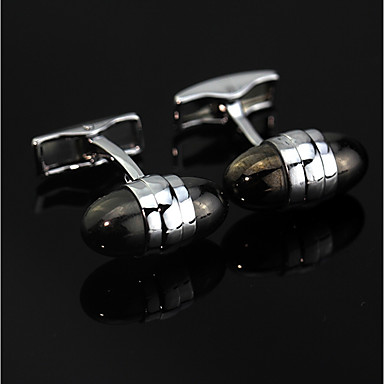 Cufflinks Boutique Fashion Brooch Jewelry Black For Daily Formal
