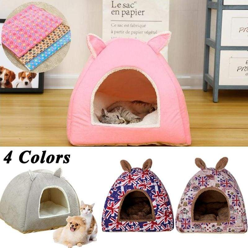 5 Colors Cartoon rabbit ears Pet Cat Dog House Cave Sleeping Bed Mat Pad Soft Warm Nest for Cat Dog Puppy