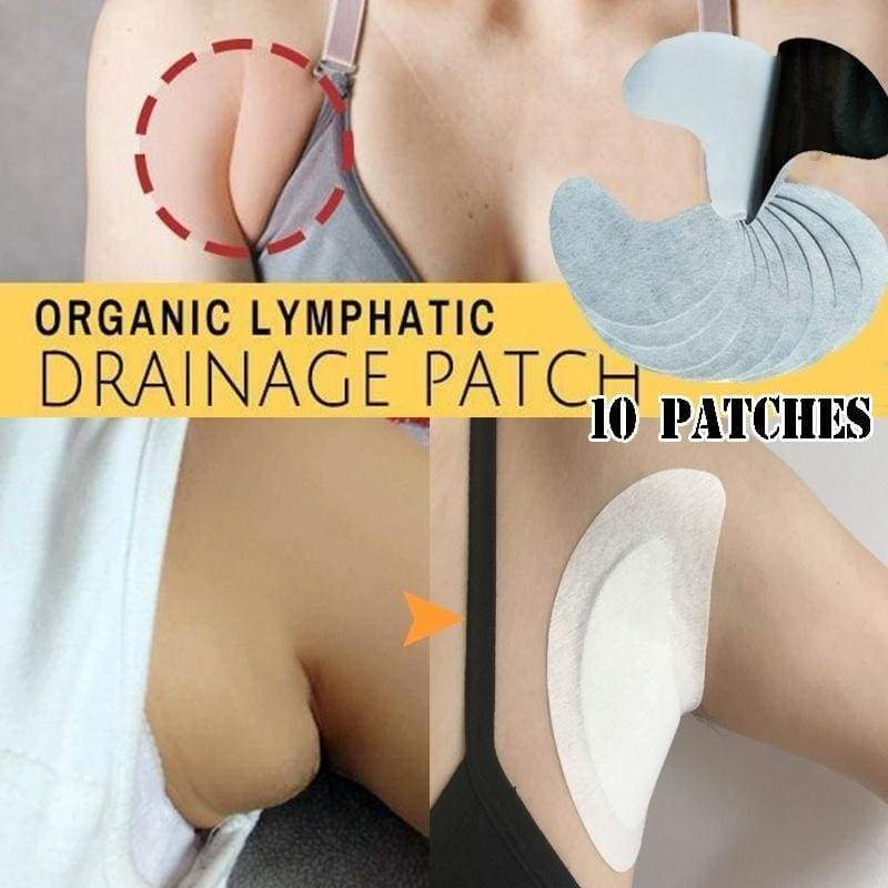 10 Patches Herbal Essence Breast Lymph Nodes Patch Body Lymph Care Detox Patches for Lymphatic Drainage Massagers