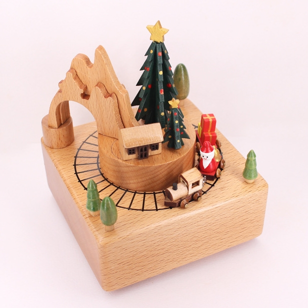 Wooden Moving Magnetic Train Musical Box - FREE SHIPPING