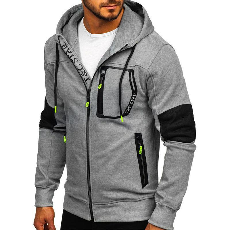 Men's thick warm hooded cardigan