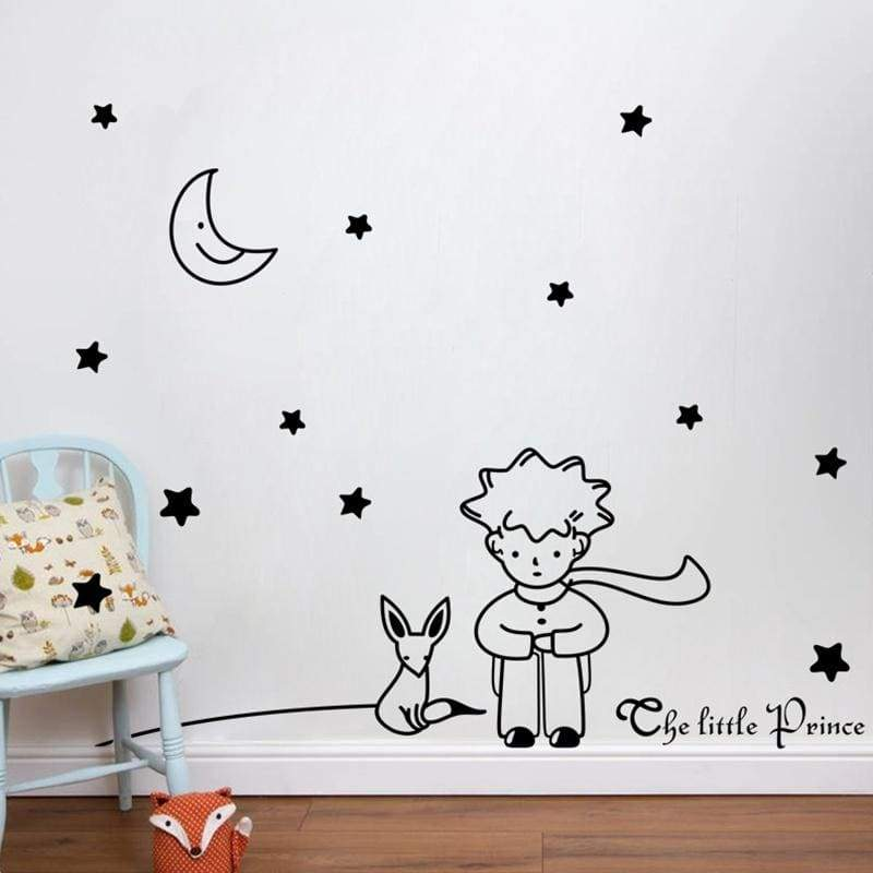 popular book fairy tale the Little Prince With Fox Moon Star home decor wall sticker for kids rooms baby child birthday gift toy