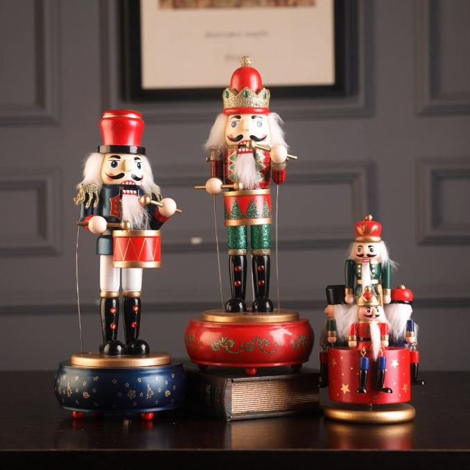 🎅Christmas Sale Buy 1 Get Free Christmas Tree🎅 Animated Musical Nutcracker with drum🌲