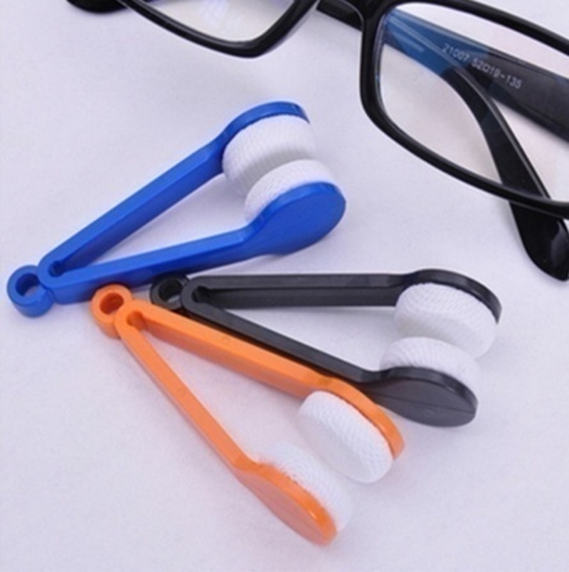 5 Pcs Fashion Glasses Cleaning Cloth Tool Microfiber Cleaner Brush Eyeglasses Cleaner Gadgets Cleaning Tools
