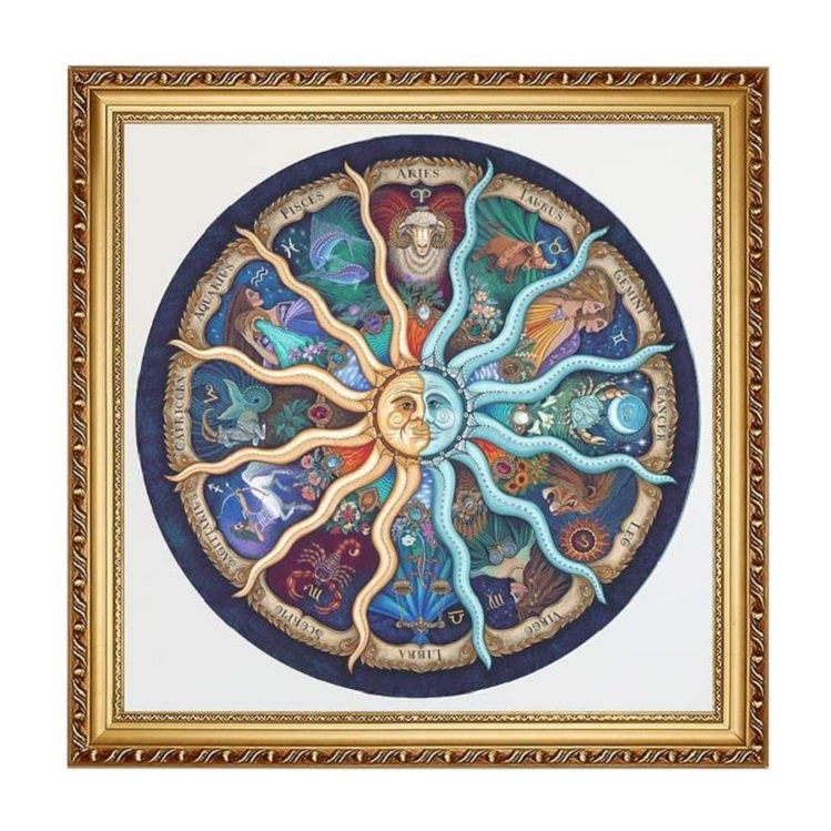 Yuyeo 500 Pieces Jigsaw Puzzle for Adults Circular Constellation Pattern