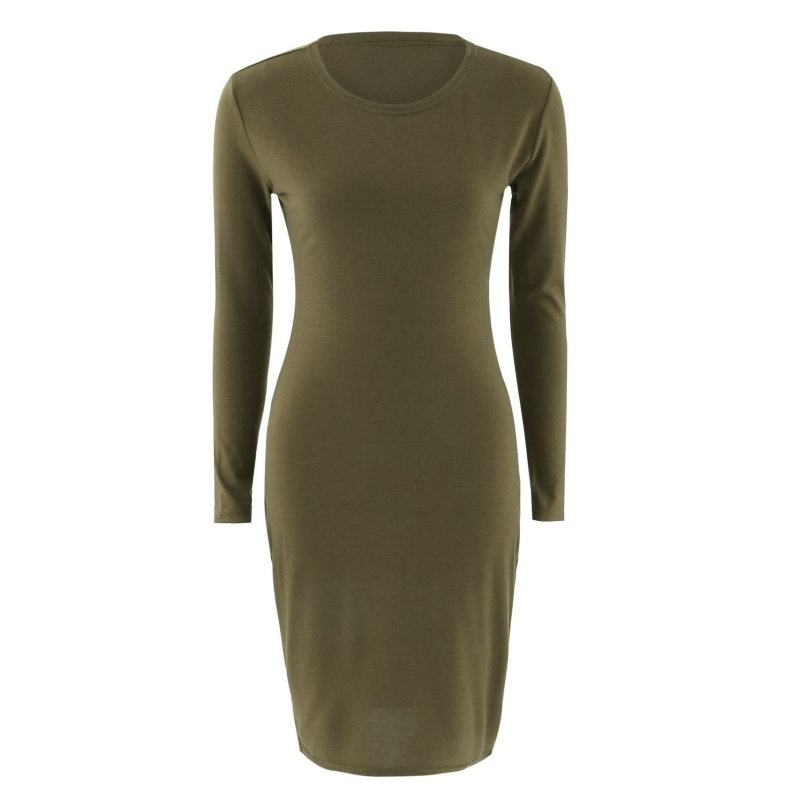 New Summer Autumn Women Casual Long Sleeve Chiffon Dresses Ladies Fashion Round neck T Shirt Loose Short Dress Tops