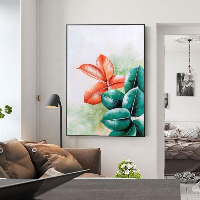 Hand painted plant flower oil painting artist home decorative art abstract canvas oil painting