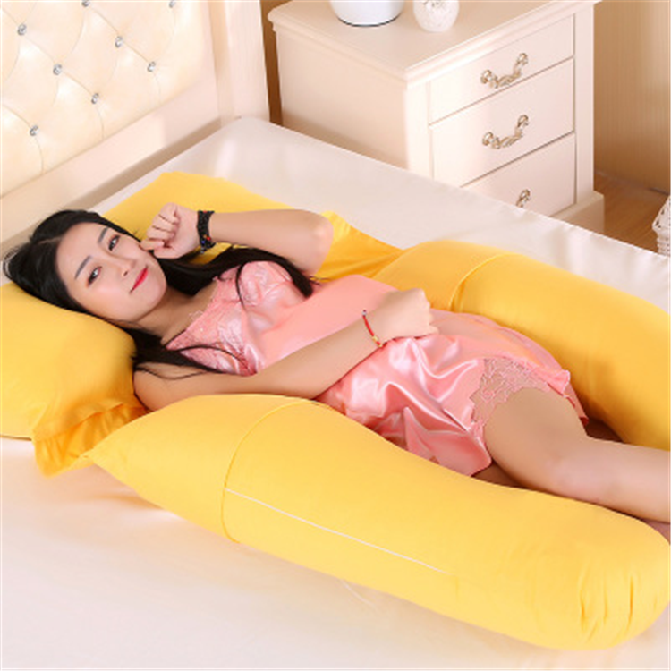 Premium U Shape Cozy Bump Full Body Wedge Pillow Cover for Pregnancy Pillow-2.16