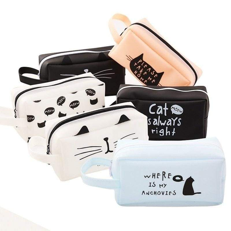 The Cartoon Cat Student Stationery Box Pencil Case New Korean Style