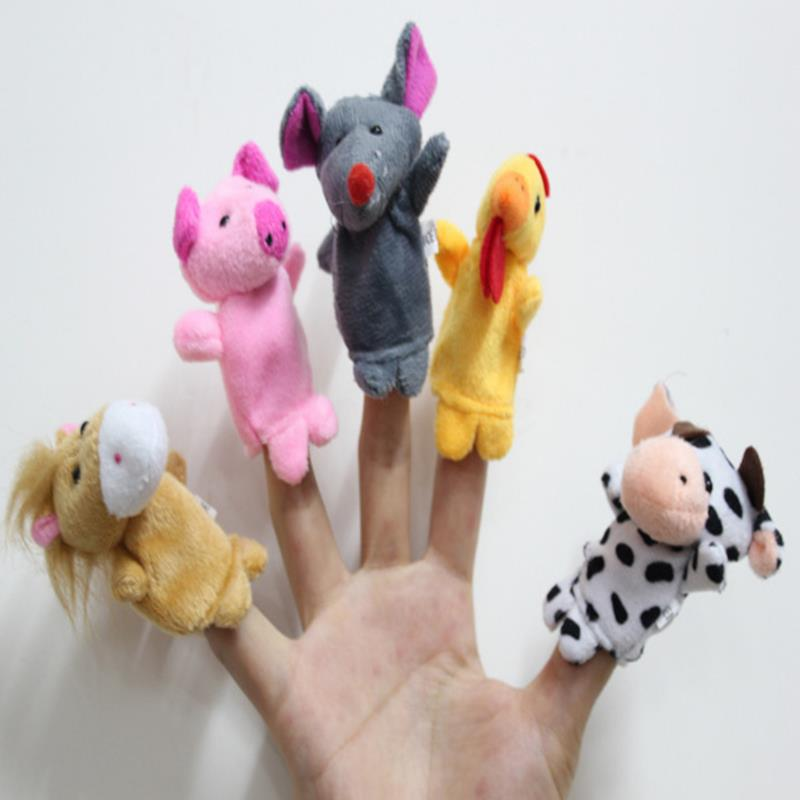 Family Finger Puppets Soft Cloth Animal Doll Baby Hand Toys For Kid Children Educational Gift - 2