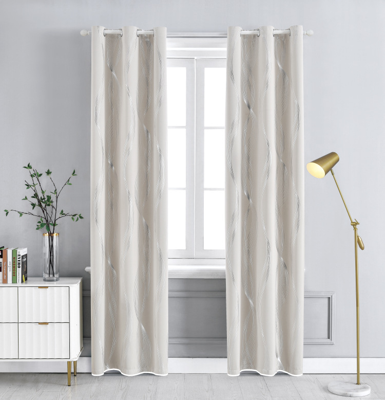 New Curtains High-precision Hot Silver Full Blackout Cloth For Balcony