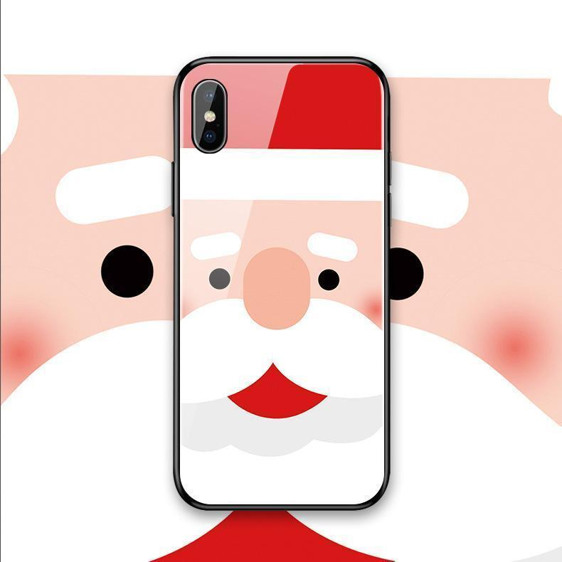 Christmas gift iPhone glass phone case