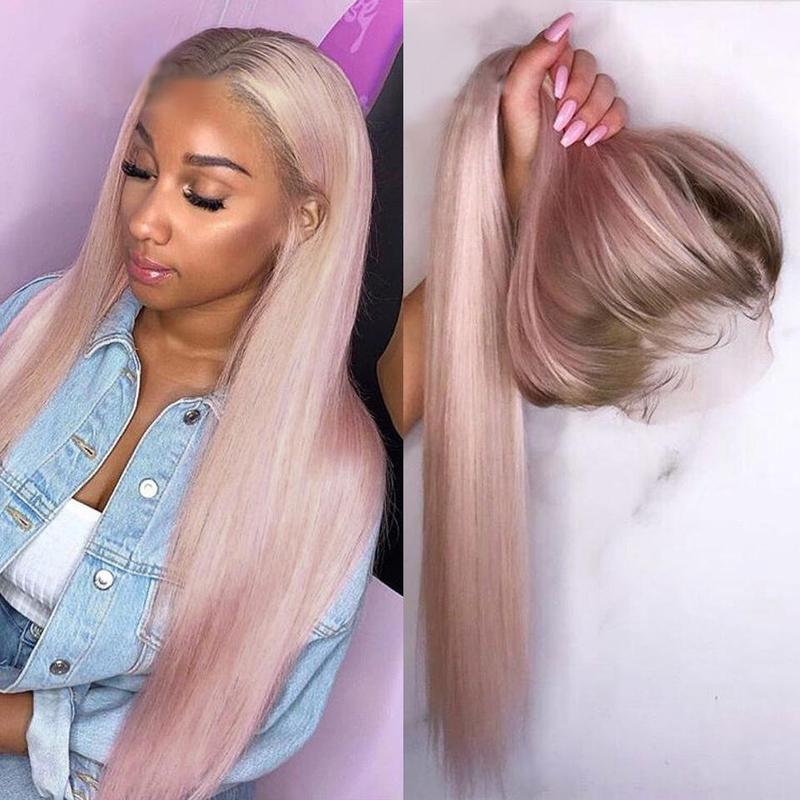 Lacwig® | Ombre Pink Heat-Friendly Synthetic Hair Straight Wig
