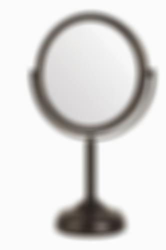 Jerdon JP910BZP 6-inch Tabletop Two-Sided Swivel Vanity Mirror with 10x Magnific