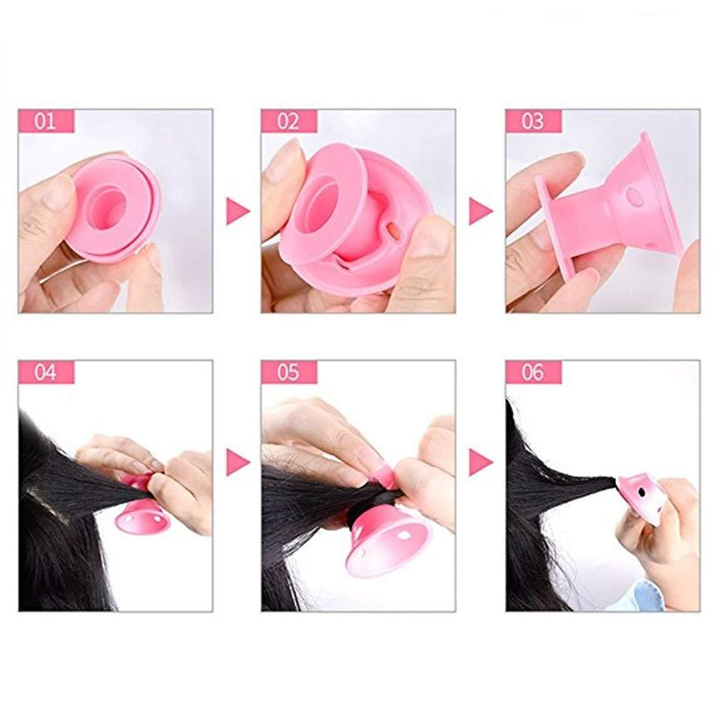 Arosetop  (Only $5.99 Limited Time) 10pcs Heatless Silicone Curling Rollers -DIY Small Hair Style Care Rollers