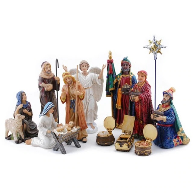 🔥 Only $26.98 BUY 2 GET 1 Free 🔥 Real Life Nativity Set