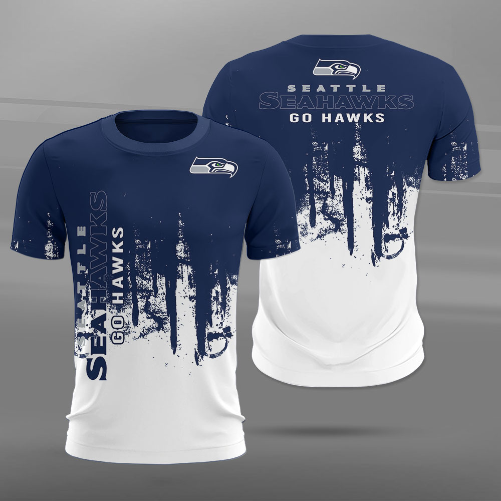 Seattle Seahawks T-shirt 3D new style Short Sleeve