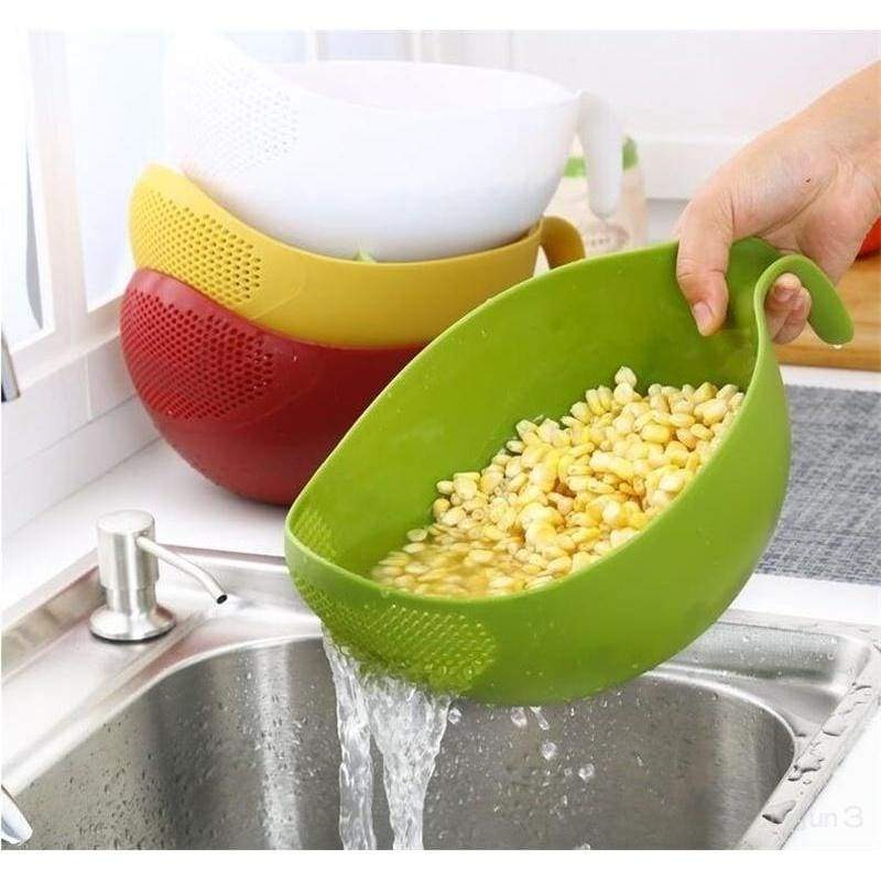 Rice Washer Quinoa Strainer Cleaning Veggie Fruit Kitchen Tools with Handle Newest