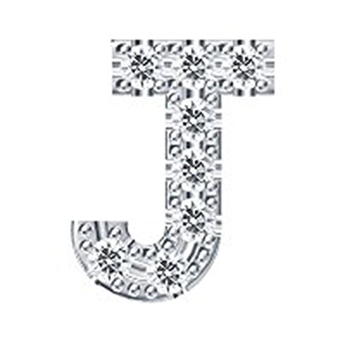 luckyviya™925 Sterling Silver CZ Simulated Diamond Stud Earrings Fashion Alphabet Letter Initial Earrings