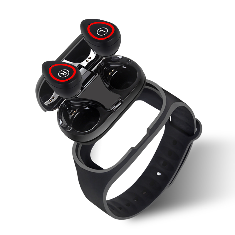 Smartwatch with Bluetooth earbuds