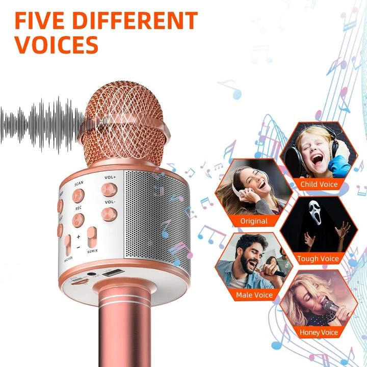(🔥HOT)WIRELESS PORTABLE HANDHELD BLUETOOTH KARAOKE MICROPHONE(BUY 2 GET 1 FREE))