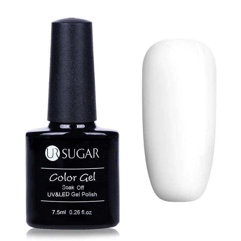 7.5ml UR SUGAR Opal Jelly Gel Polish White Black Soak Off Nail Art UV Gel Polish Nail Base Top Coat