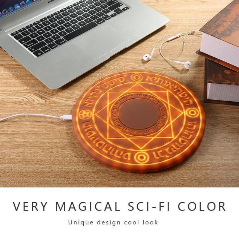 Magic LED Illumination Medieval Wireless Charger for iPhone/Android/Samsung