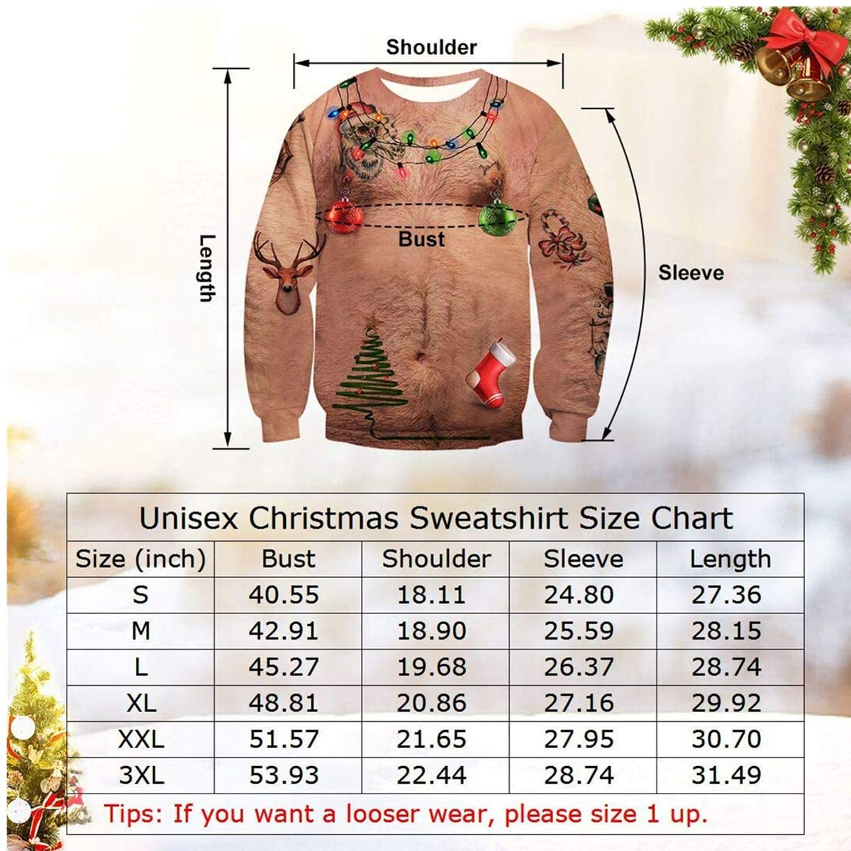 Unisex Ugly Christmas Sweatshirt-Christmas&Bra