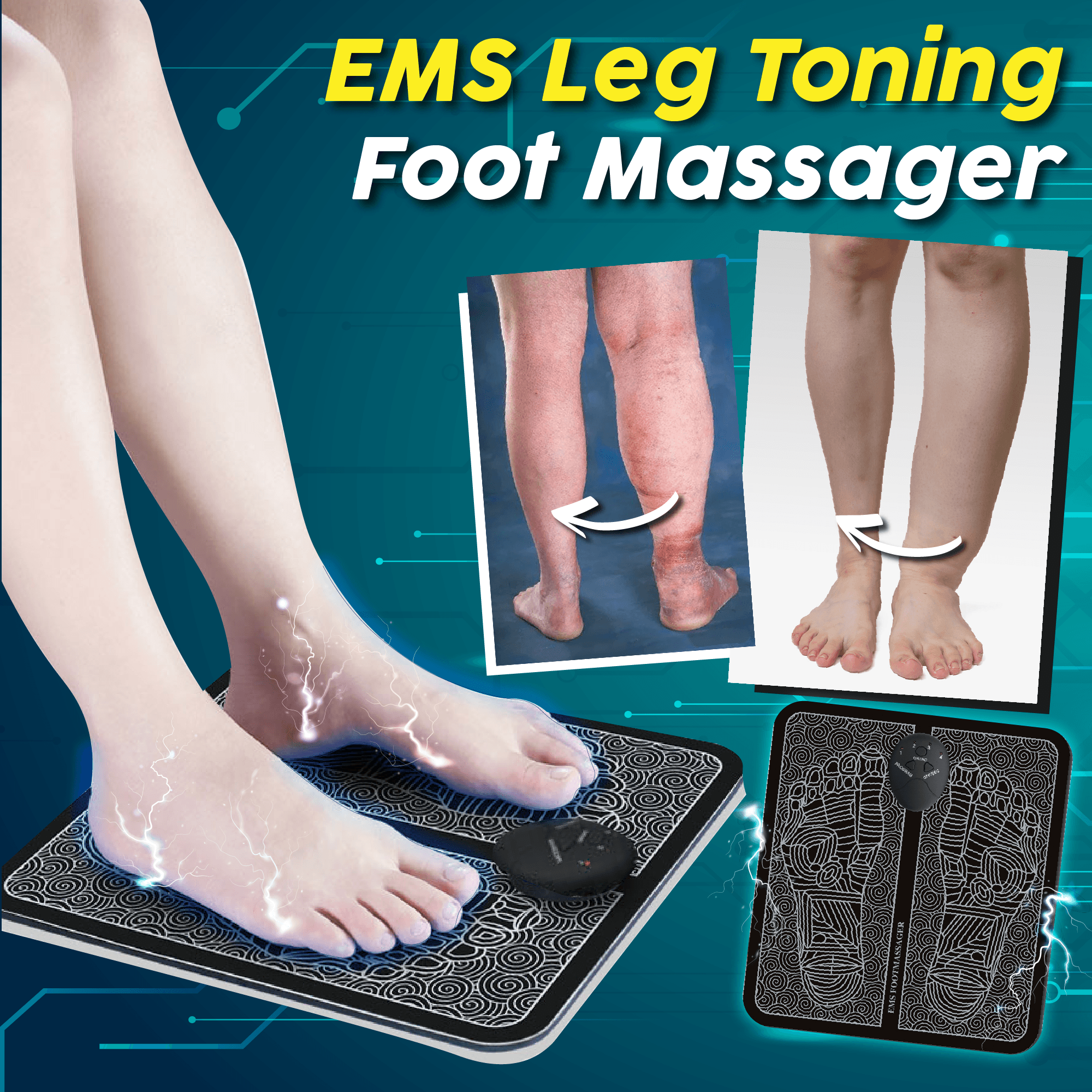 【Father's Day Promotion-ONLY $19.99 EACH】EMS FootMassager Pad