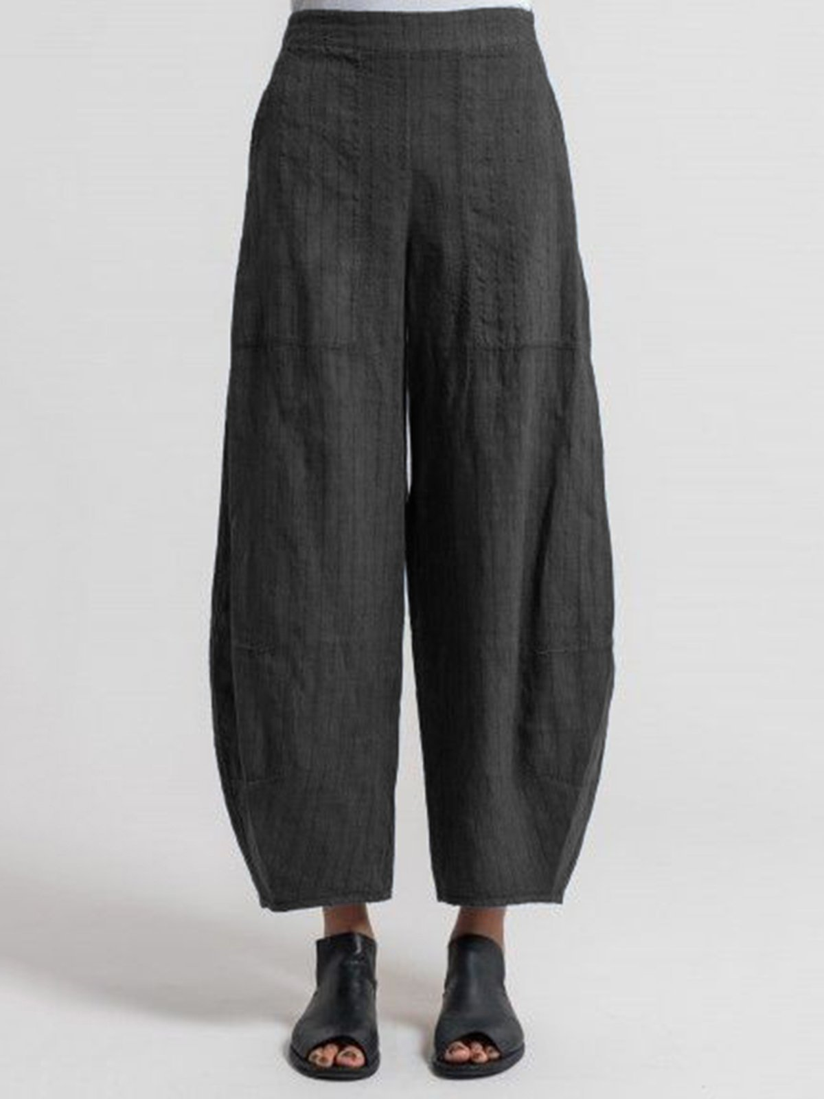 Pinstripe Casual Pockets Pants
