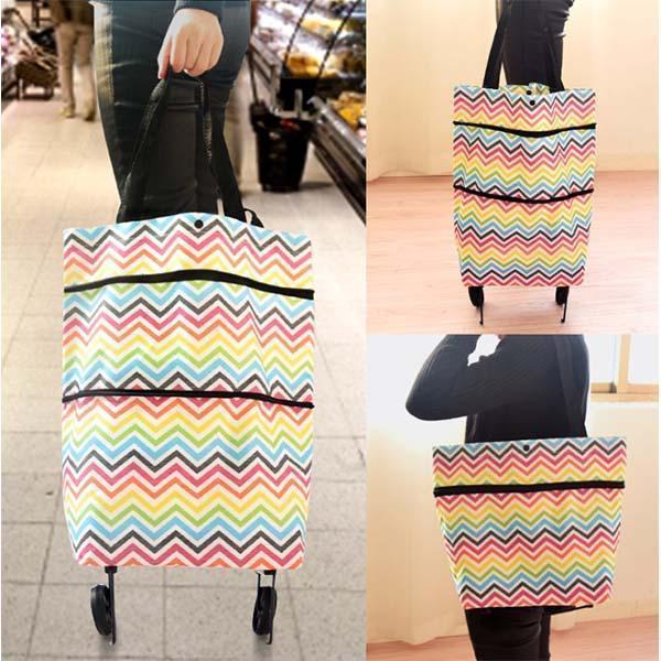Foldable Waterproof Shopping Trolley Tote Bag-Buy 2 Free Shipping