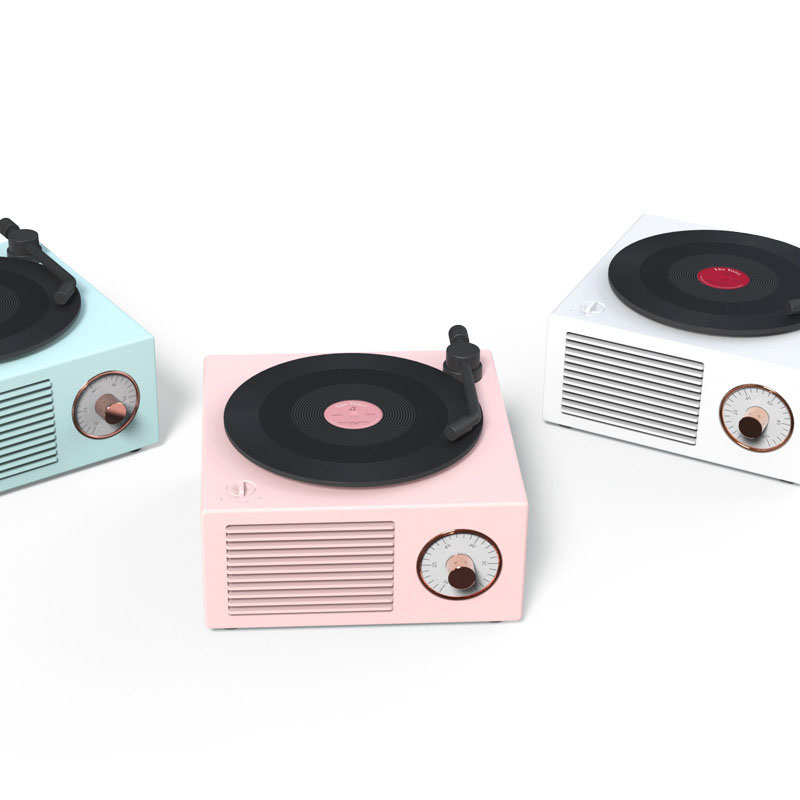Retro vinyl record bluetooth speaker
