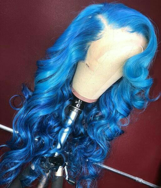 Blue Wigs Lace Frontal Wigs Cheap Human Wigs Red And Blue Hair Color Light Blue And Pink Hair Blue Orange Hair
