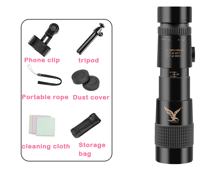(Official product)4K 10-300X40mm super telephoto zoom monocular telescope-Upgrade version