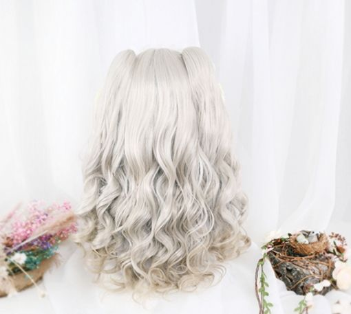 2020 New Gray Hair Wigs For African American Women Brown Hair With Gray Highlights Micro Braid Wig Eullair Wigs Mikan Tsumiki Wig Grey Blond Hair