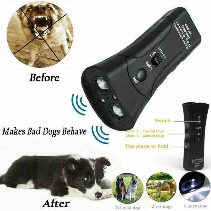 Practical Pet Supplies Ultrasonic Double-headed Dog Repeller Anti Barking Device Dog Training Repeller