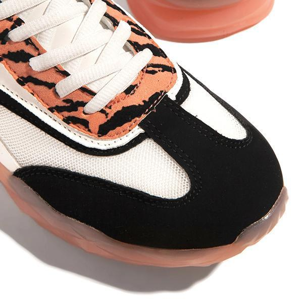 Lemmikshoes Material Lace-Up Sneakers