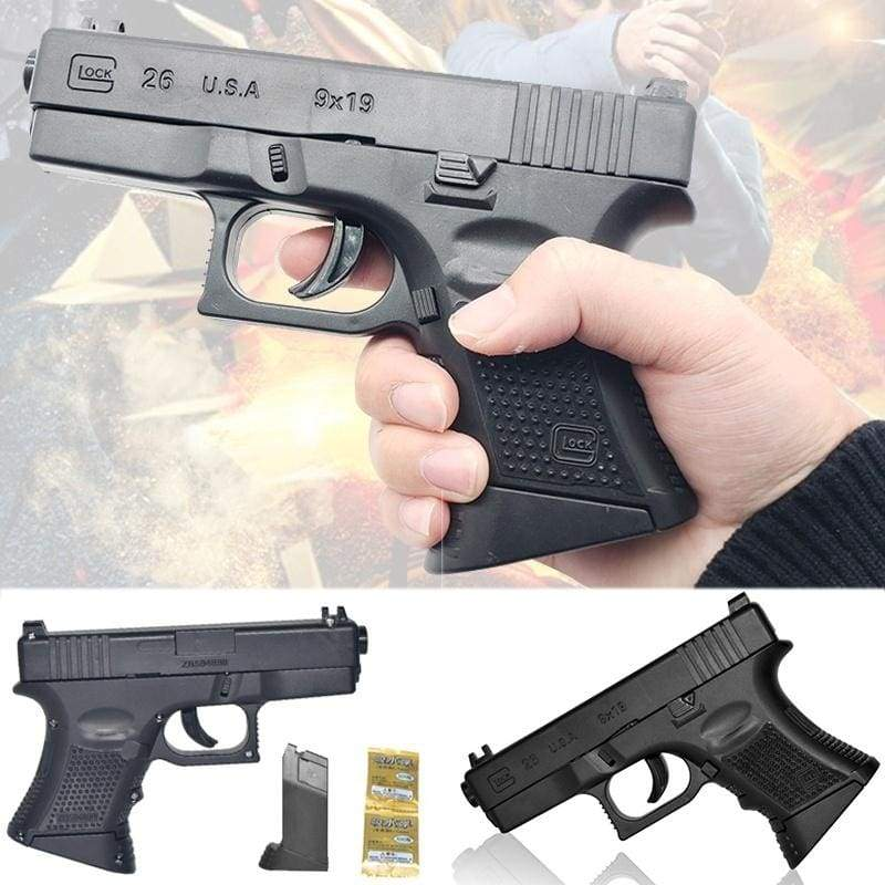 BB Gun Toy Child CS Battle Toy Gun with Silicone Soft Pellets Outdoor Manual Shooting Toy