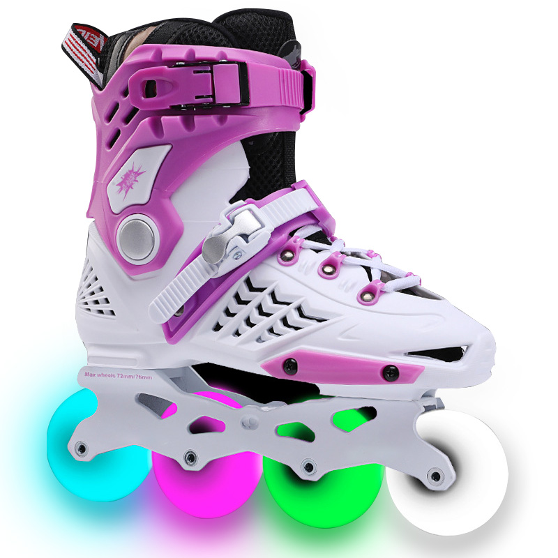 Inline Roller Skates Fit Adults with Full Light Up Wheels Beginner
