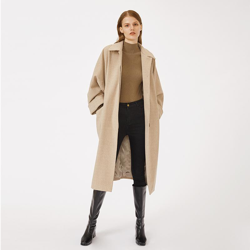 OEM ODM custom autumn and winter warm beige high quality woolen coat-Casual Outwear 2.11
