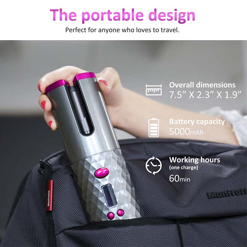 (50% OFF Now)<br>Wireless Portable Rotating Ceramic Hair Curler