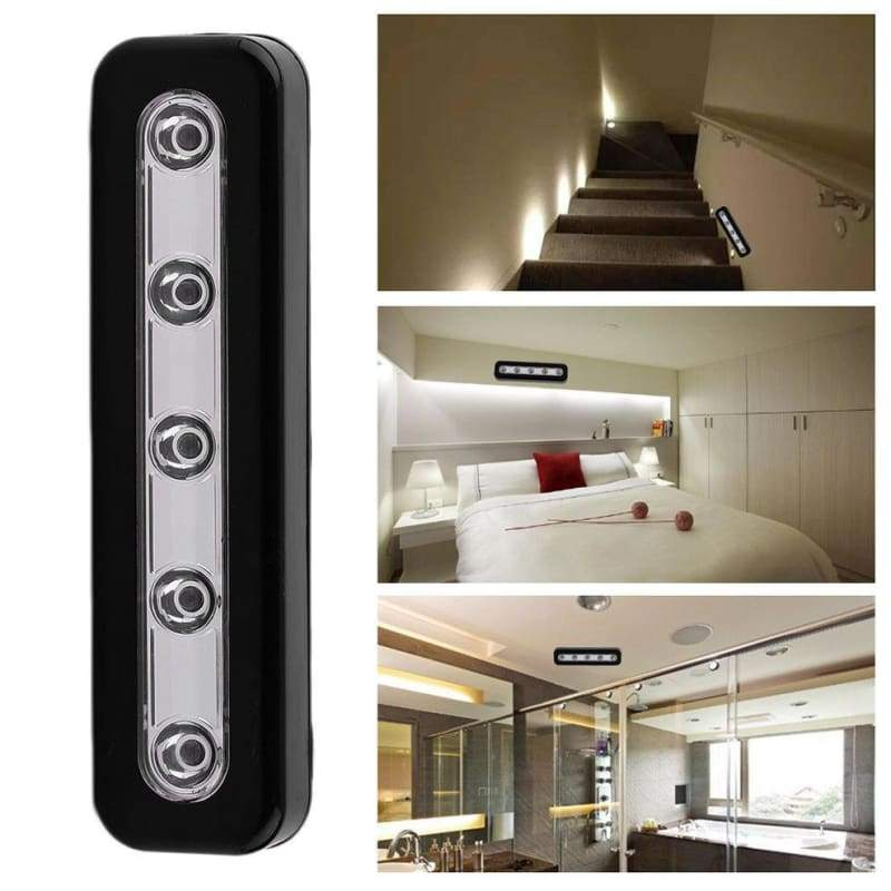 LED touch lamp wireless cabinet closet self-stick tap cool white bright for wall