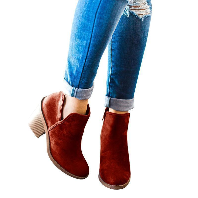 Faddishshoes Suede Chunky Boots