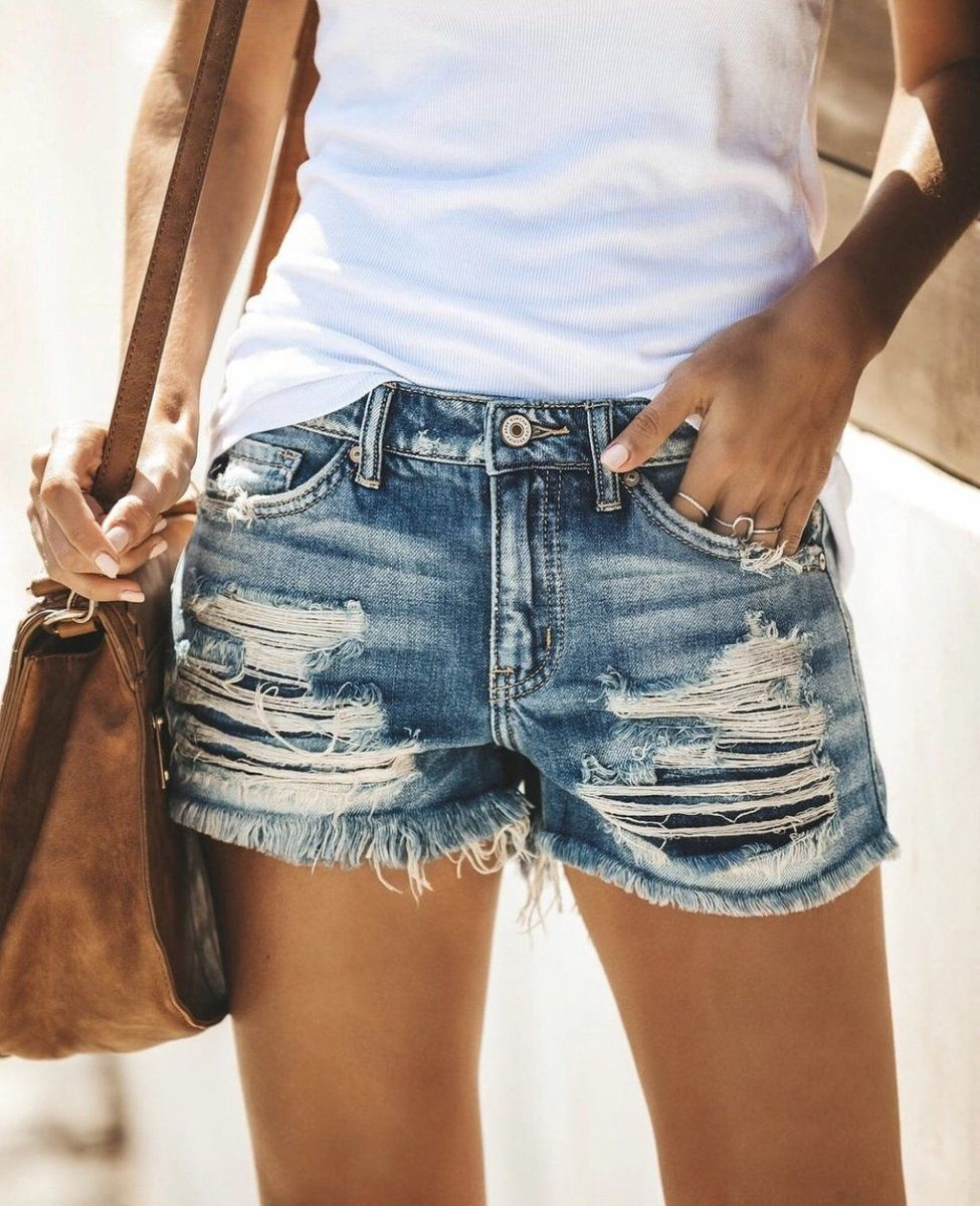Short Jeans For Women High Cut Shorts Short Leg Maternity Jeans Skinny Stretch Bermuda Shorts