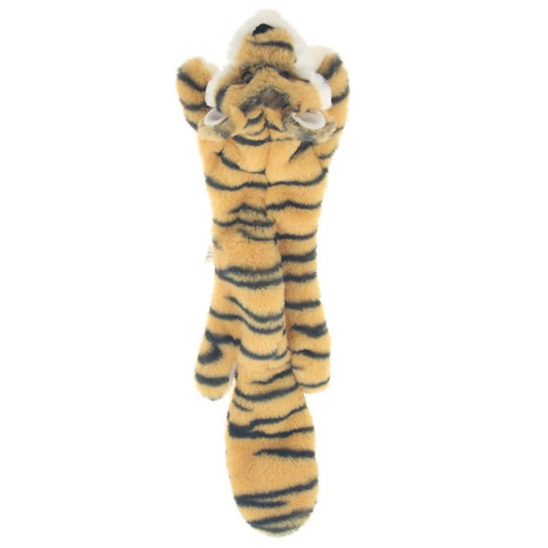 2019 New cute plush toys squeak pet wolf rabbit animal plush toy dog chew squeaky whistling involved squirrel dog toys