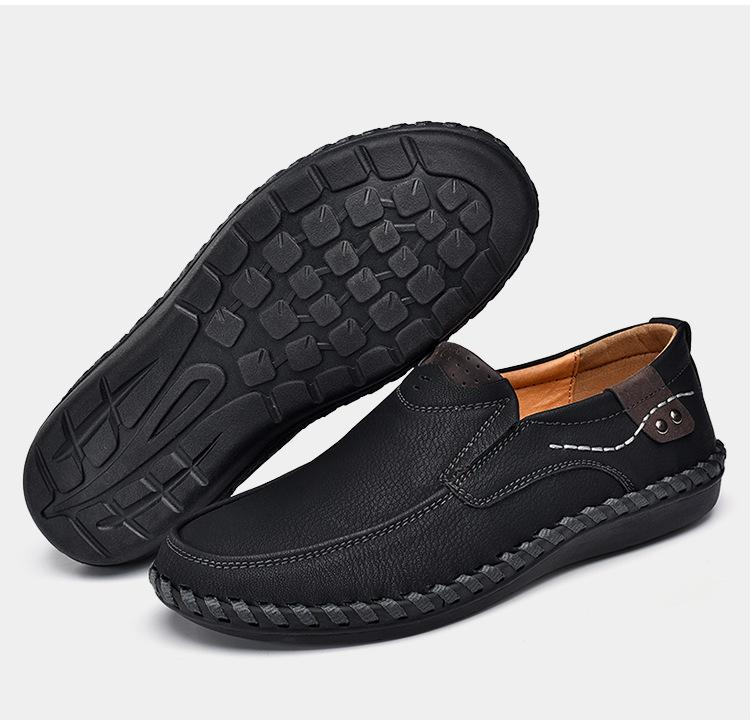 Men Driving Shoes Slip On Loafers Leather Shoes