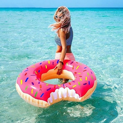 Summer Swimming Pool Floating Inflatable Donut Swim Ring